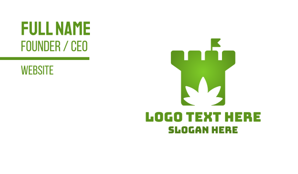 vice - Cannabis Castle Business card horizontal design