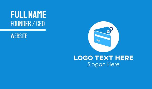 discount - Blue Credit Card Tag Business card horizontal design