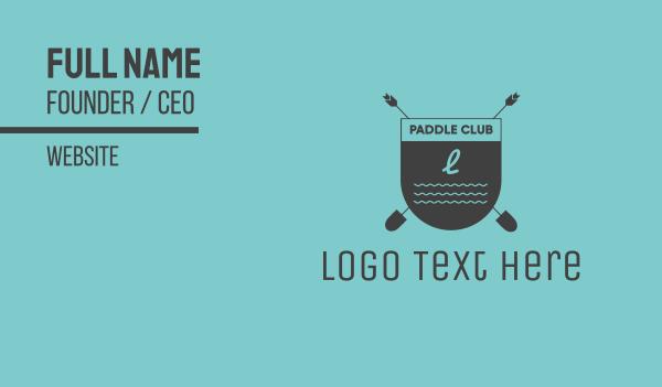 paddle - Beach Club Emblem Business card horizontal design