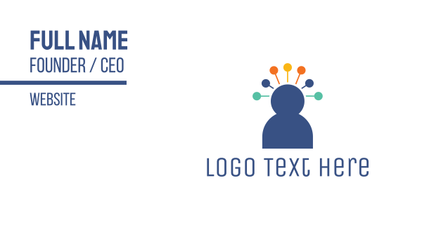 crowd - Pin Head Person Business card horizontal design