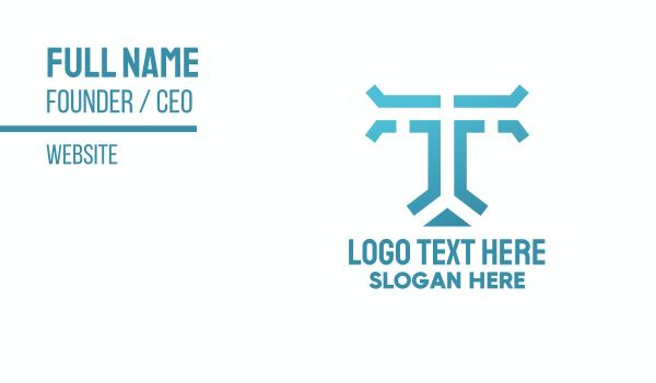 traffic - Letter T Traffic Roads Business card horizontal design