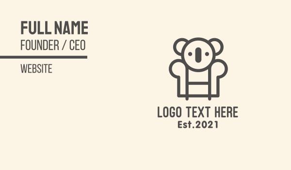 seat - Koala Sofa Chair Business card horizontal design