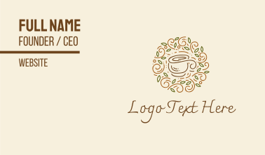 Coffee Tea Cafe  Business Card