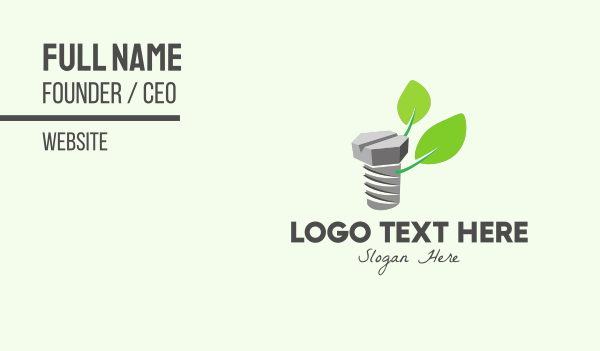 repairman - Organic Mechanical Screw Business card horizontal design