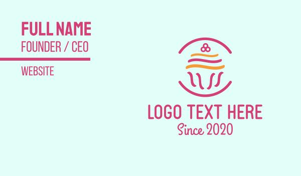 pastry shop - Dessert Cupcake Business card horizontal design