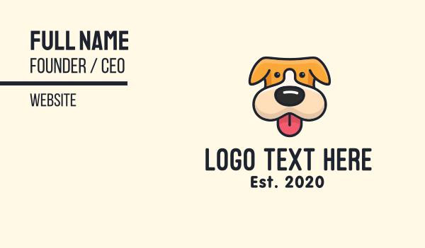 adorable - Cute Puppy Dog Business card horizontal design