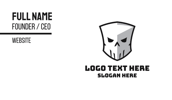 cranium - Skull Shield Business card horizontal design