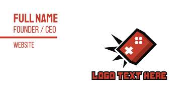 Game Brick Smashers Business Card