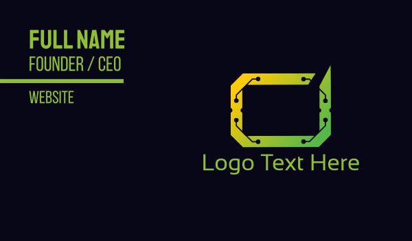 software developement - Digital Frame Business card horizontal design