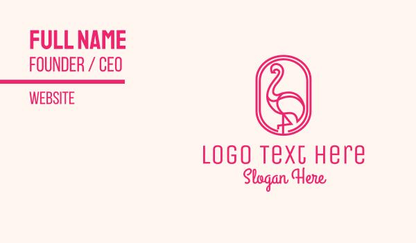 heron - Pink Flamingo Business card horizontal design