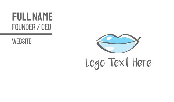 frozen - Water Beauty Lips Business card horizontal design