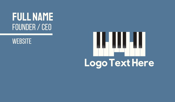 pianist - Piano Castle Business card horizontal design