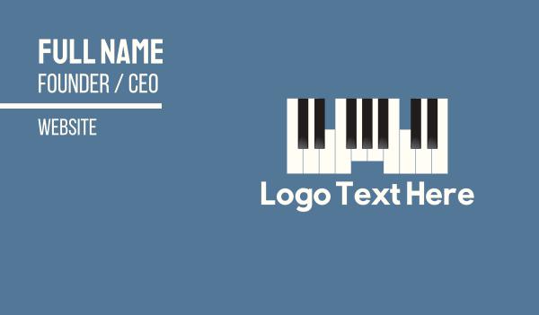 piano - Piano Castle Business card horizontal design