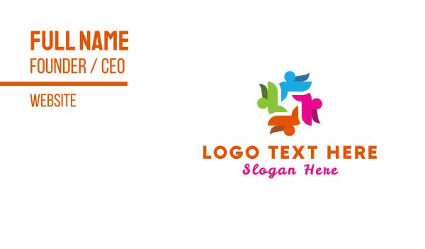 wiki - Human Group Business card horizontal design