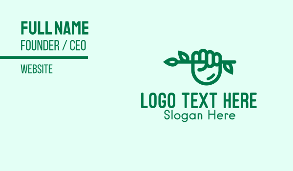 twig - Eco Branch Hand  Business card horizontal design