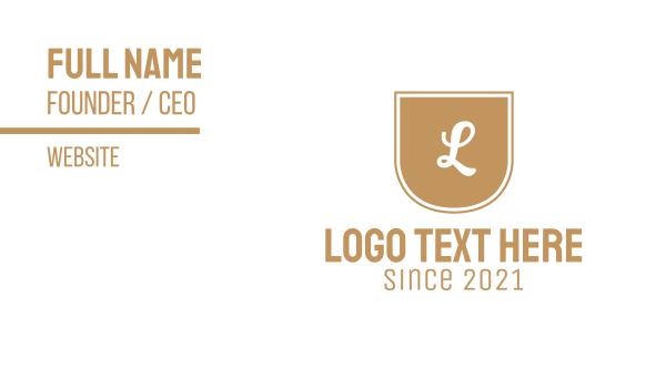 europe - Golden Letter Emblem Business card horizontal design