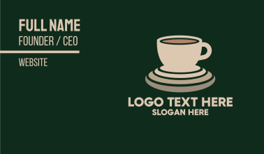 Coffee Beverage Business Card