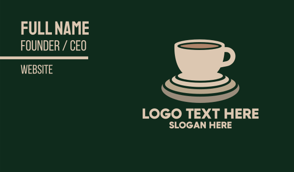cup and saucer - Coffee Beverage Business card horizontal design