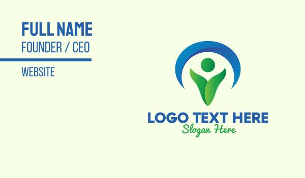 living - Green Environmentalist Conservation Business card horizontal design