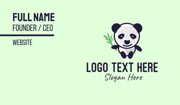stuffed toy - Panda Mascot Business card horizontal design
