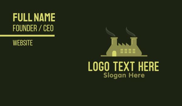 bottle - Green Factory  Business card horizontal design