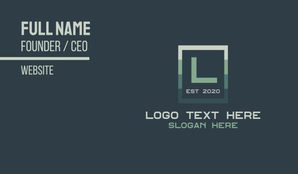 perfume - Sleek Green Corporate Business card horizontal design