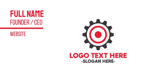 target - Target Gear Business card horizontal design