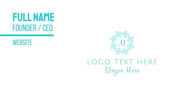detailed - Snowflake Lettermark Business card horizontal design