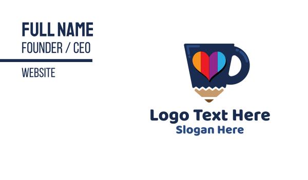 lgbt - Pencil Cup Business card horizontal design