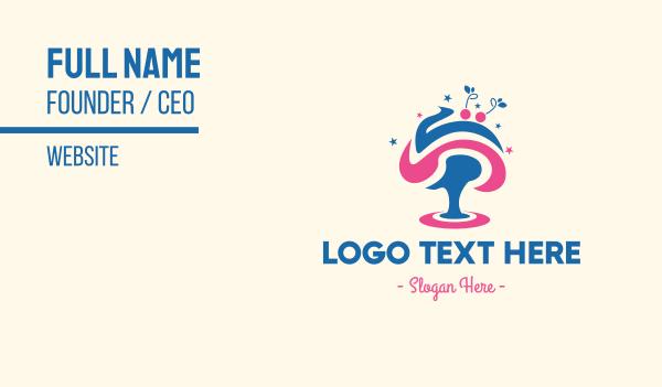 sundae - Ice Cream Tree Business card horizontal design