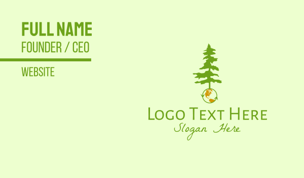 ecology - Earth & Tree Business card horizontal design