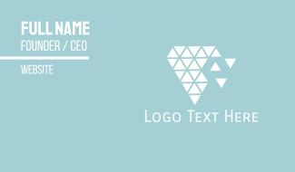Diamond Triangles Business Card