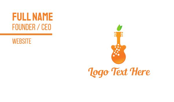 band - Orange Juice Music Business card horizontal design