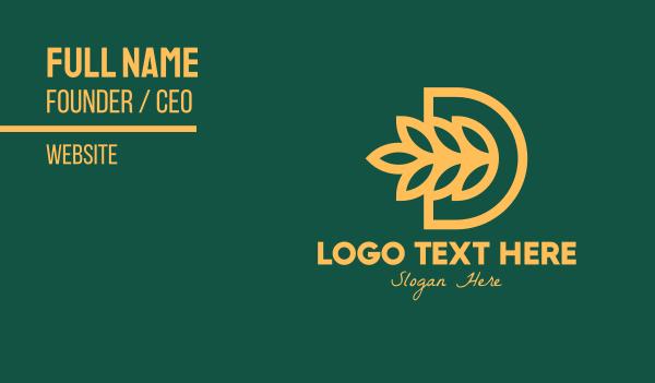 letter d - Wheat Farm Letter D Business card horizontal design