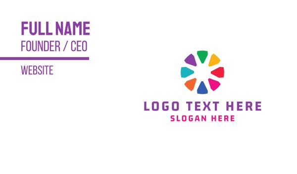 group - Crayon Circle Business card horizontal design