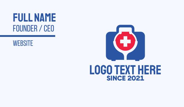 paramedic - Medical Check Up Kit  Business card horizontal design