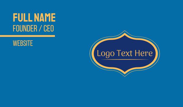 cultural - Arabic Wordmark Business card horizontal design