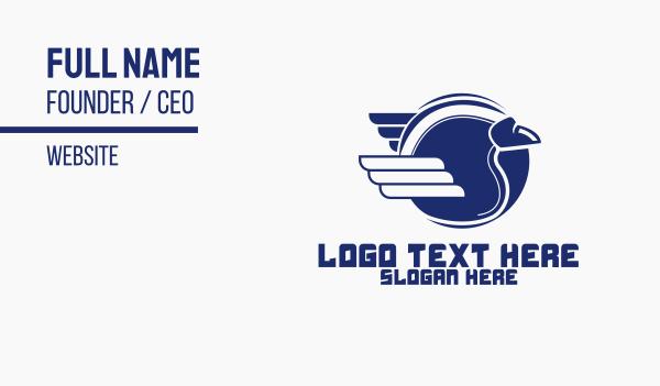 speedy - Fast Ball Wings Business card horizontal design