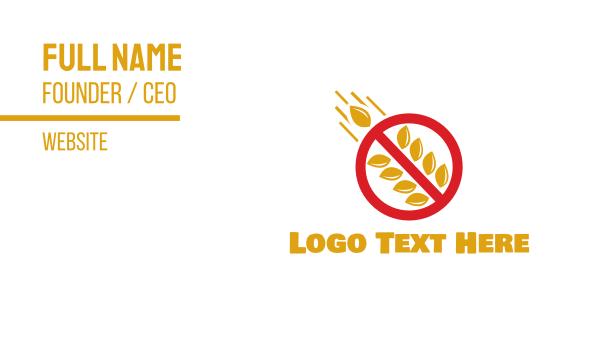 keto - No Carbs Business card horizontal design