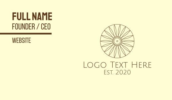 sunflower - Minimalist Sun Sunflower Business card horizontal design