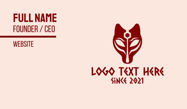 mythology - Red Egyptian Mythology Business card horizontal design