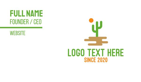 sahara - Desert Cactus Business card horizontal design