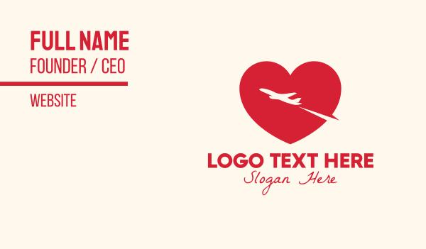 air transportation - Red Travel Lover Business card horizontal design