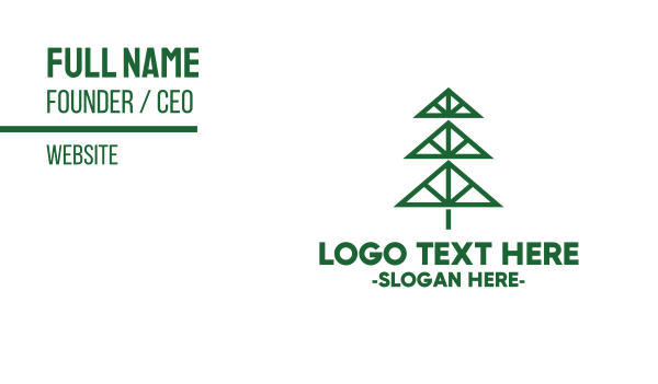 carpentry - Minimalist Pine Business card horizontal design