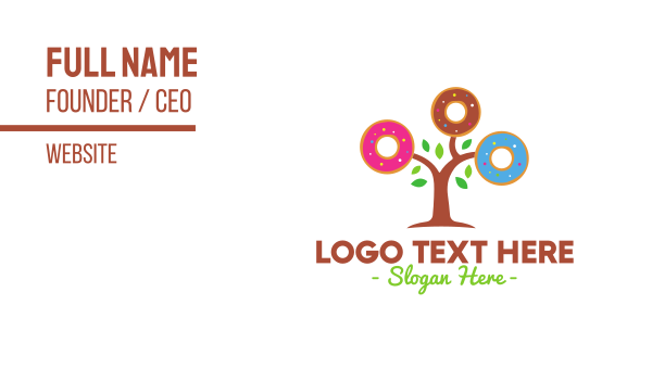 treat - Colorful Doughnut Tree Business card horizontal design