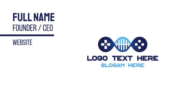 genes - DNA Gaming Business card horizontal design