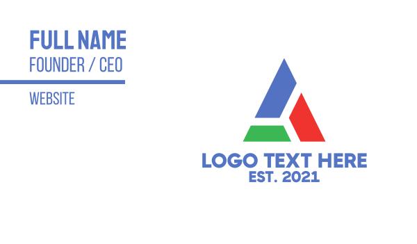 blocks - Block Triangle Business card horizontal design