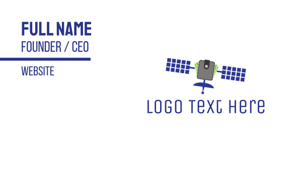 wallet - Space Wallet Satellite Business card horizontal design