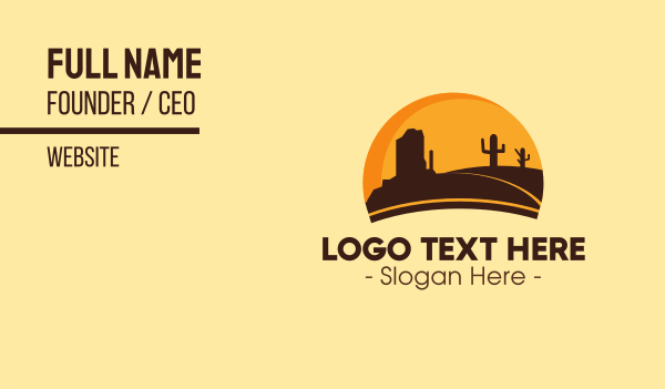 trip - Wild Texas Business card horizontal design