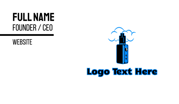 vice - Blue Variable Vape Business card horizontal design